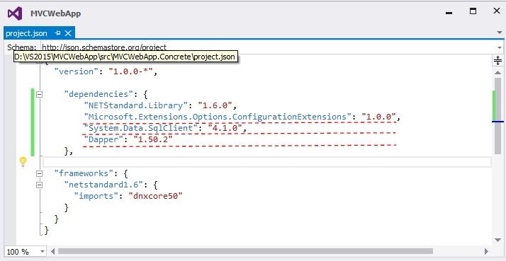 CRUD operation with  Net Core Web Application Using Dapper