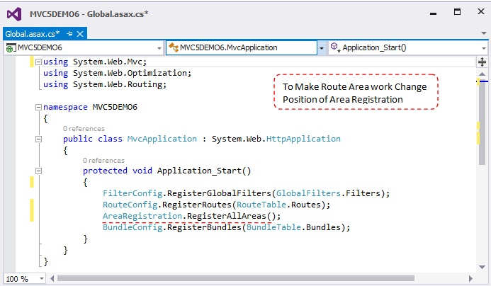 Area Routing In Mvc 5